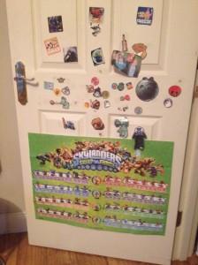 Découpaged door kids stickers